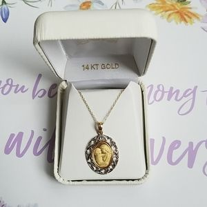 Mother/Child Pendant Necklace